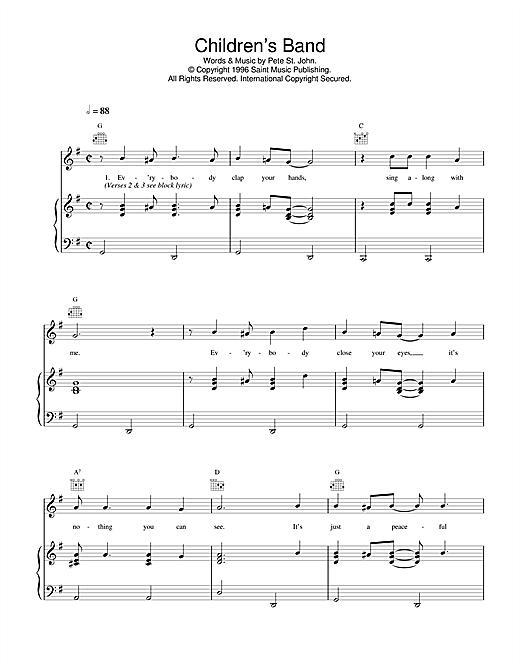 Daniel O'Donnell Children's Band sheet music notes printable PDF score