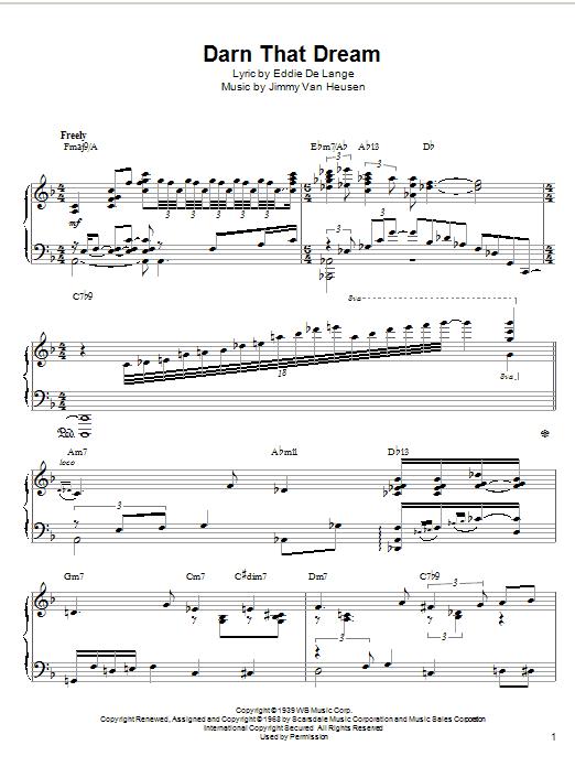 McCoy Tyner Darn That Dream sheet music notes printable PDF score