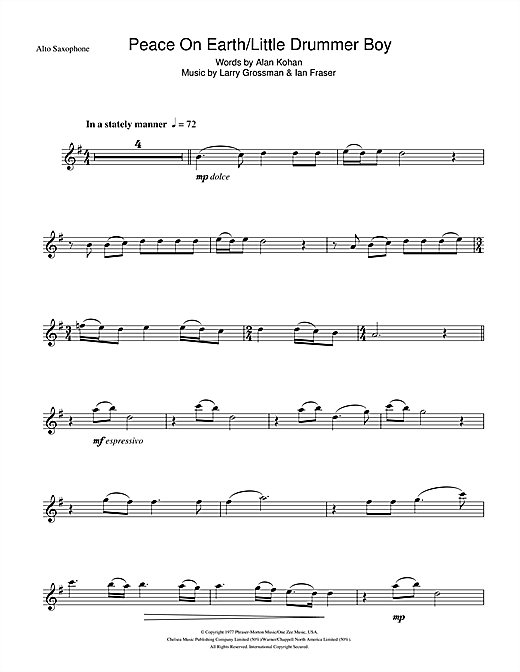 David Bowie Peace On Earth sheet music notes and chords. Download Printable PDF.