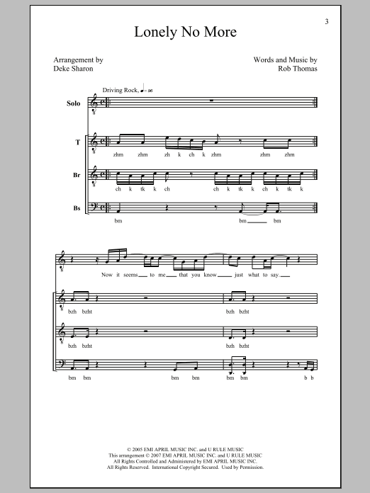 Deke Sharon Lonely No More sheet music notes and chords. Download Printable PDF.