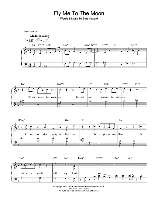 Diana Krall Fly Me To The Moon (In Other Words) sheet music notes printable PDF score