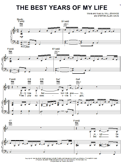 Diana Ross The Best Years Of My Life sheet music notes and chords. Download Printable PDF.