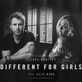 Download or print Dierks Bentley feat. Elle King Different For Girls Digital Sheet Music Notes and Chords - Printable PDF Score