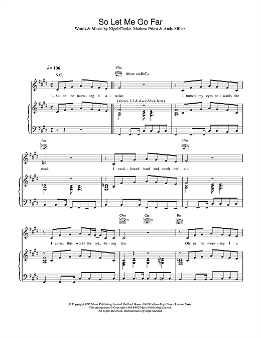 Dodgy So Let Me Go Far sheet music notes printable PDF score