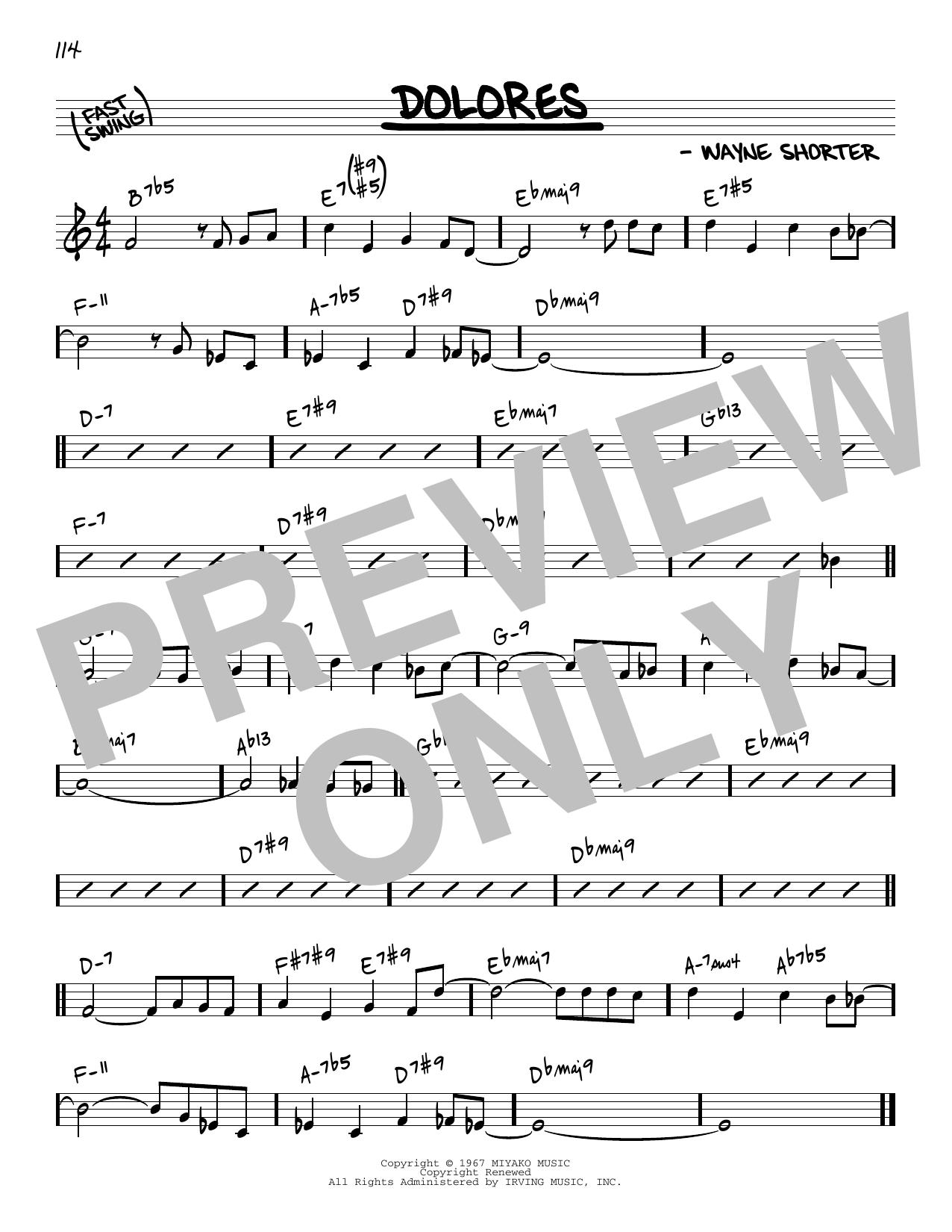 Wayne Shorter Dolores [Reharmonized version] (arr. Jack Grassel) sheet music notes printable PDF score