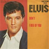 Elvis Presley Don't Sheet Music and Printable PDF Score | SKU 80949