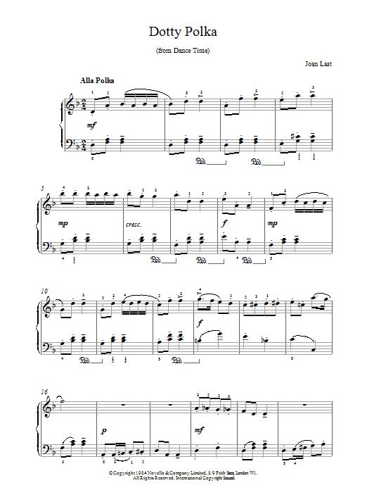 Last Dotty Polka sheet music notes printable PDF score