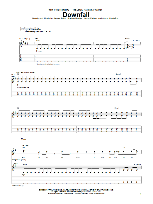 TRUSTcompany Downfall sheet music notes printable PDF score