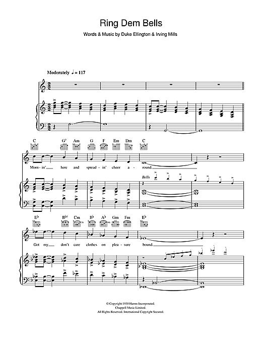 Duke Ellington Ring Dem Bells sheet music notes and chords - download printable PDF.