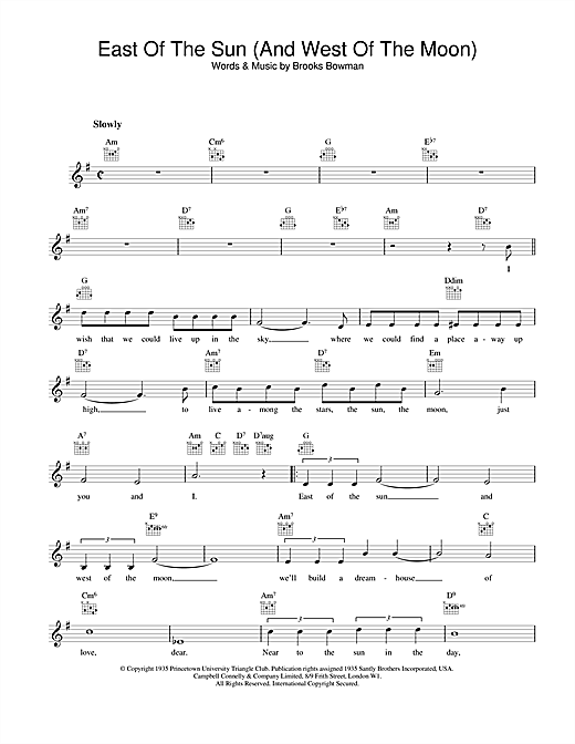 Frank Sinatra East Of The Sun (And West Of The Moon) sheet music notes printable PDF score