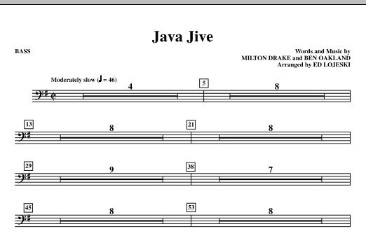 Ed Lojeski Java Jive (TTBB Octavo Accompaniment Parts) - Bass sheet music notes printable PDF score