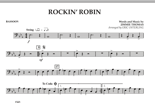 Eric Osterling Rockin' Robin - Bassoon sheet music notes and chords. Download Printable PDF.