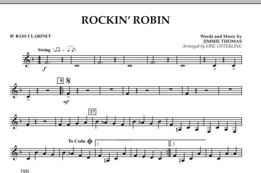 Eric Osterling Rockin' Robin - Bb Bass Clarinet sheet music notes and chords. Download Printable PDF.
