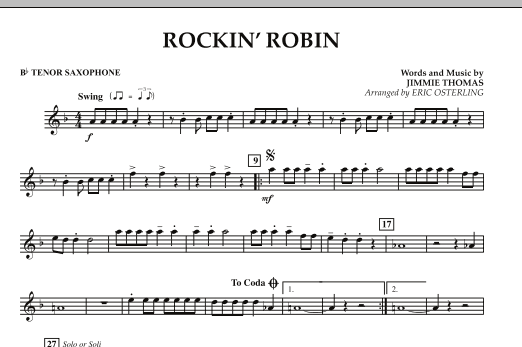 Eric Osterling Rockin' Robin - Bb Tenor Saxophone sheet music notes and chords. Download Printable PDF.