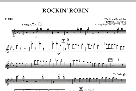 Eric Osterling Rockin' Robin - Flute sheet music notes and chords. Download Printable PDF.