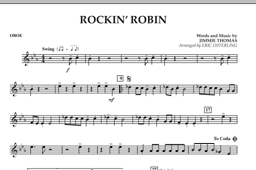 Eric Osterling Rockin' Robin - Oboe sheet music notes and chords. Download Printable PDF.