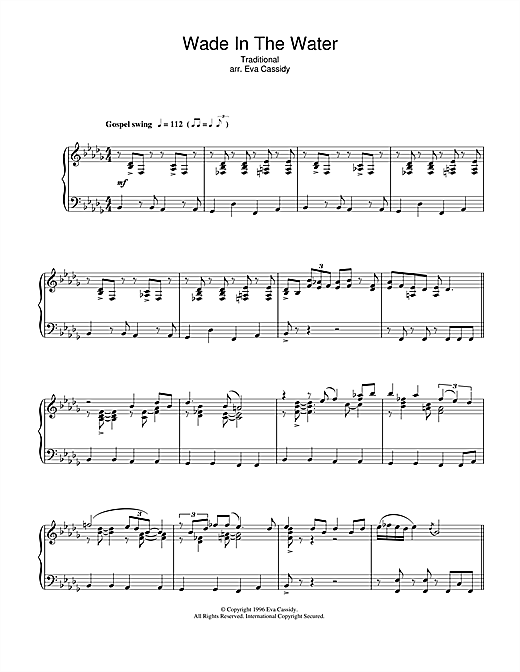 Eva Cassidy Wade In The Water sheet music notes printable PDF score