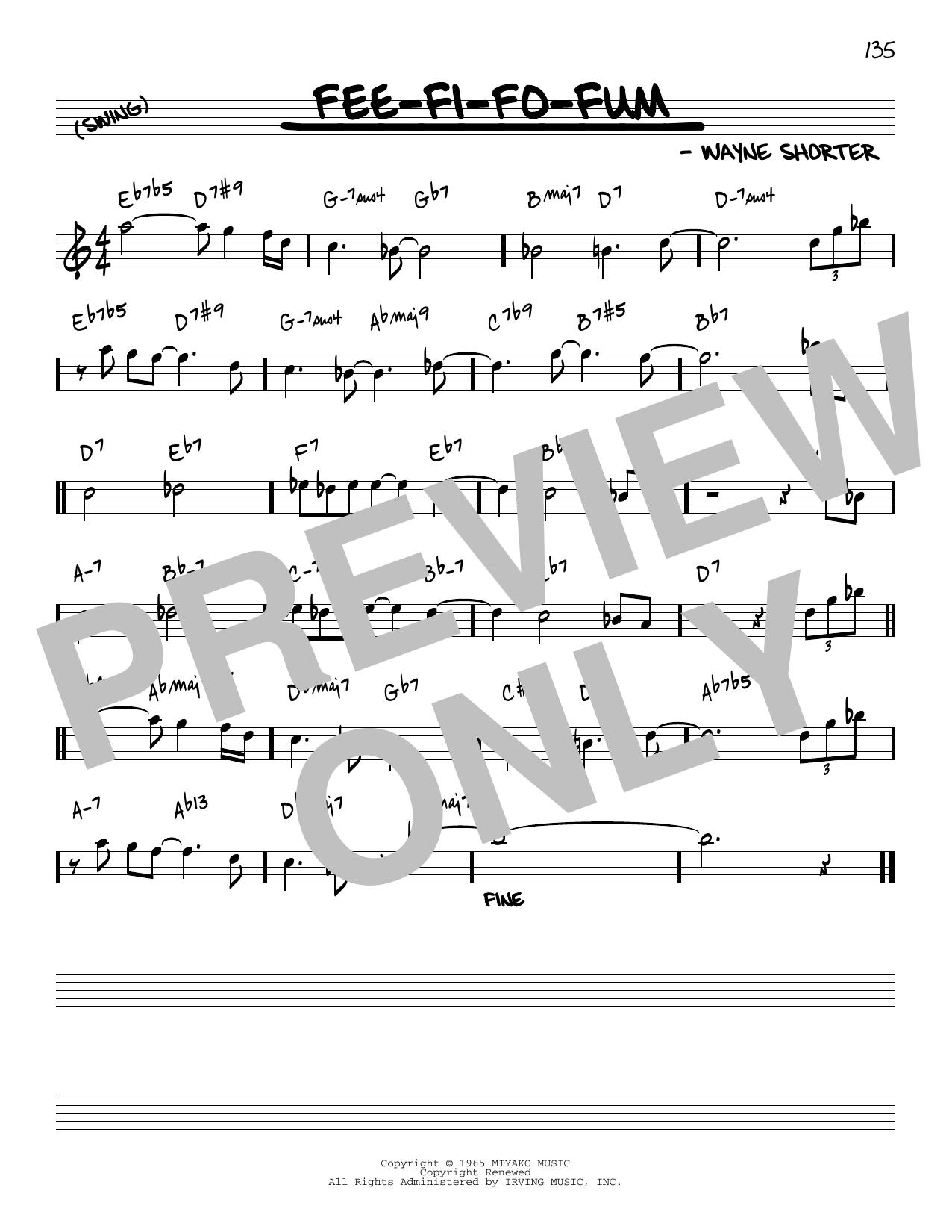 Wayne Shorter Fee-Fi-Fo-Fum [Reharmonized version] (arr. Jack Grassel) sheet music notes printable PDF score