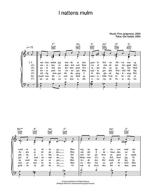Finn Jorgensen I Nattens Mulm sheet music notes printable PDF score