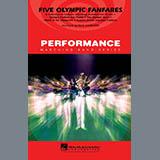 Paul Lavender Five Olympic Fanfares - Flute/Piccolo Sheet Music and Printable PDF Score   SKU 284784