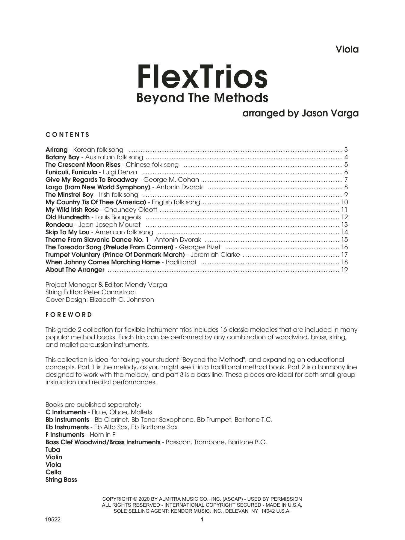 Jason Varga Flextrios - Beyond The Methods (16 Pieces) - Viola sheet music notes printable PDF score