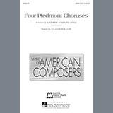 William Bolcom Four Piedmont Choruses Sheet Music and Printable PDF Score | SKU 159187