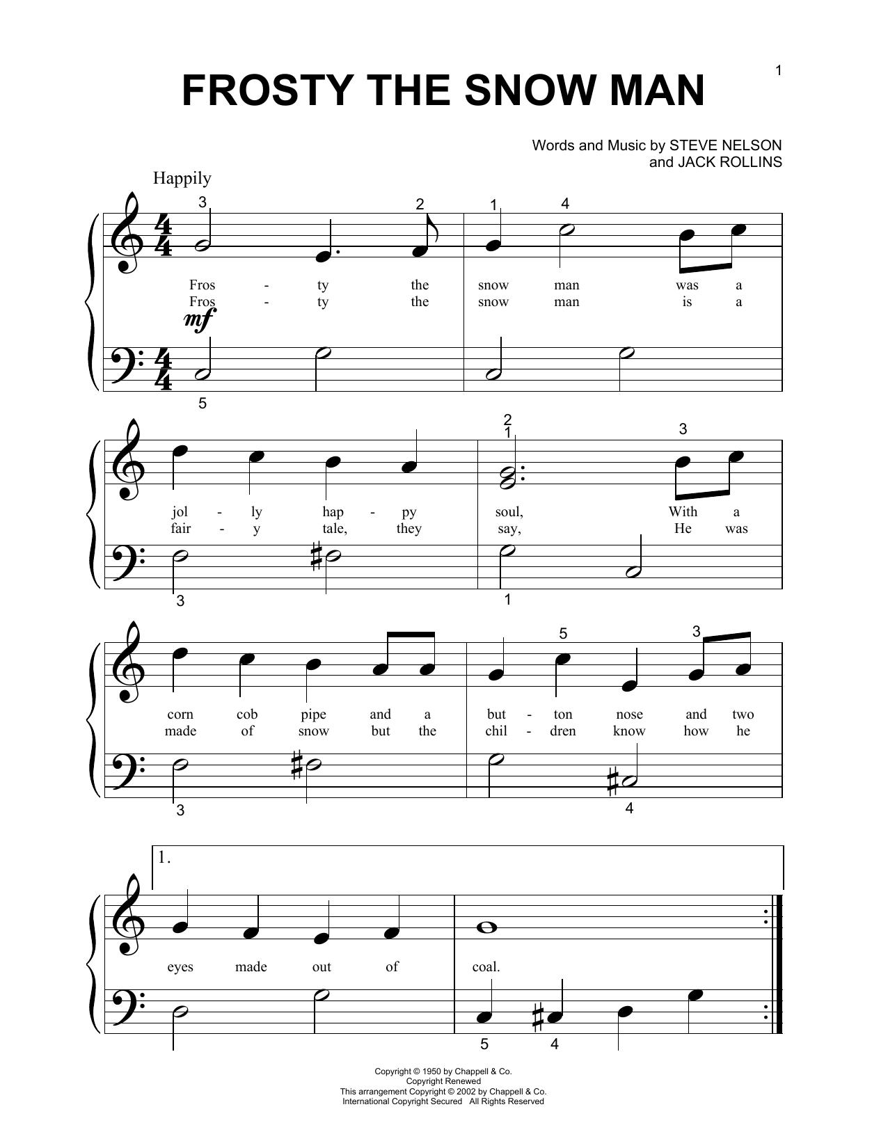Gene Autry Frosty The Snow Man sheet music notes printable PDF score