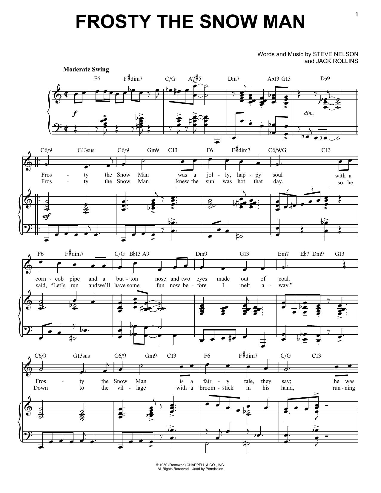 Jack Rollins Frosty The Snow Man [Jazz Version] (arr. Brent Edstrom) sheet music notes printable PDF score