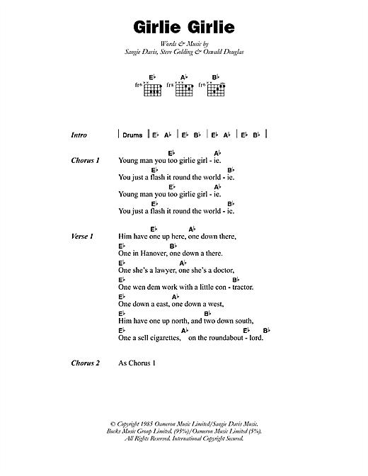 Sophia George Girlie Girlie sheet music notes printable PDF score