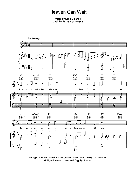 Glenn Miller Heaven Can Wait sheet music notes and chords. Download Printable PDF.