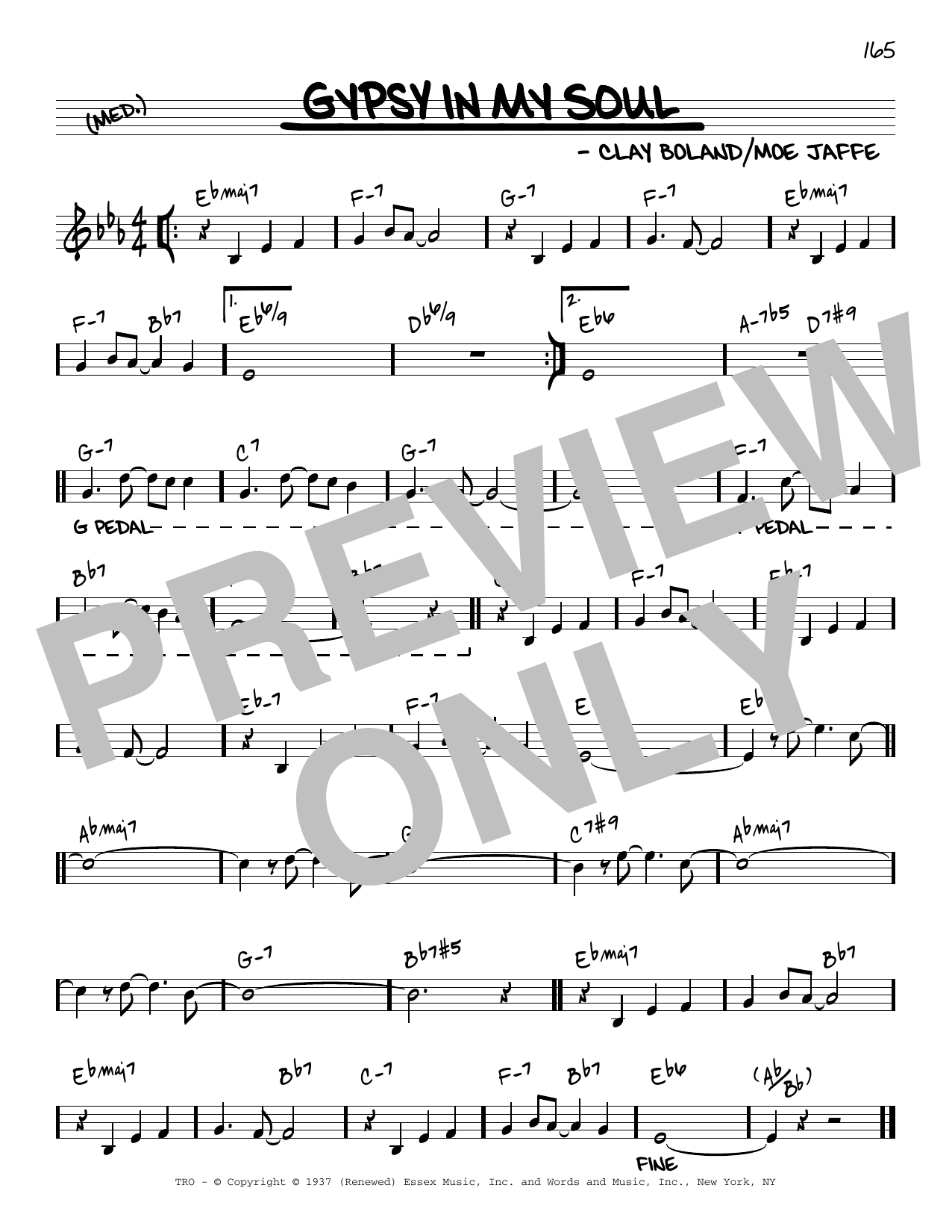 Clay Boland Gypsy In My Soul [Reharmonized version] (arr. Jack Grassel) sheet music notes printable PDF score