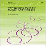 Download or print Halferty 10 Progressive Duets For Trumpet And Trombone Digital Sheet Music Notes and Chords - Printable PDF Score