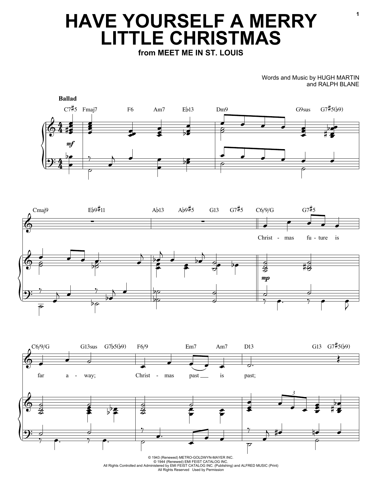 Hugh Martin Have Yourself A Merry Little Christmas [Jazz Version] (arr. Brent Edstrom) sheet music notes printable PDF score