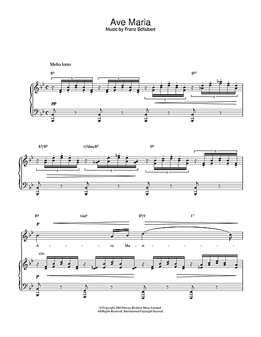 Hayley Westenra Ave Maria sheet music notes and chords. Download Printable PDF.