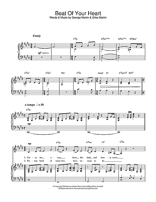 Hayley Westenra Beat Of Your Heart sheet music notes printable PDF score