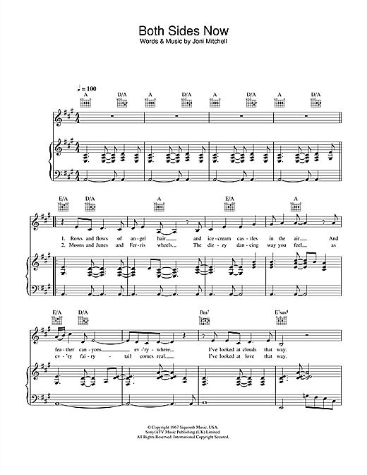 Hayley Westenra Both Sides Now sheet music notes printable PDF score