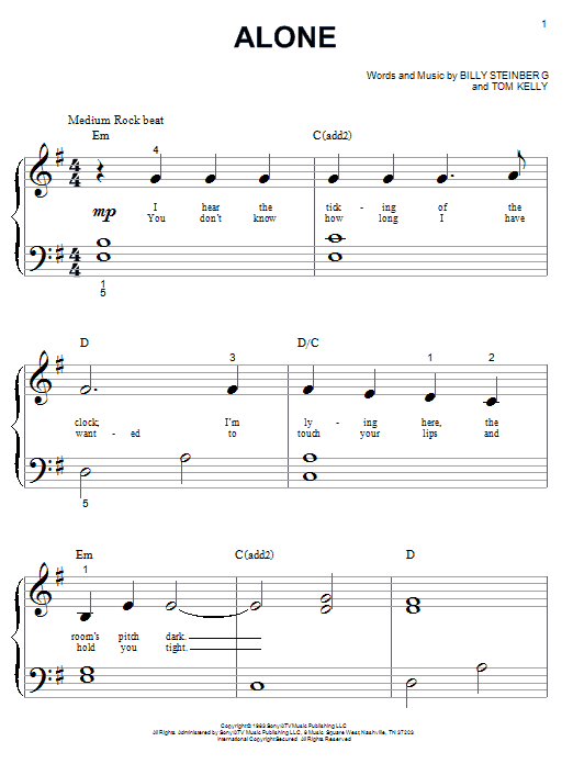 Heart Alone sheet music notes and chords. Download Printable PDF.
