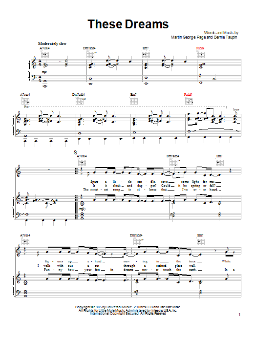 Heart These Dreams sheet music notes and chords. Download Printable PDF.