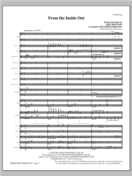 Heather Sorenson From The Inside Out - Full Score sheet music notes printable PDF score