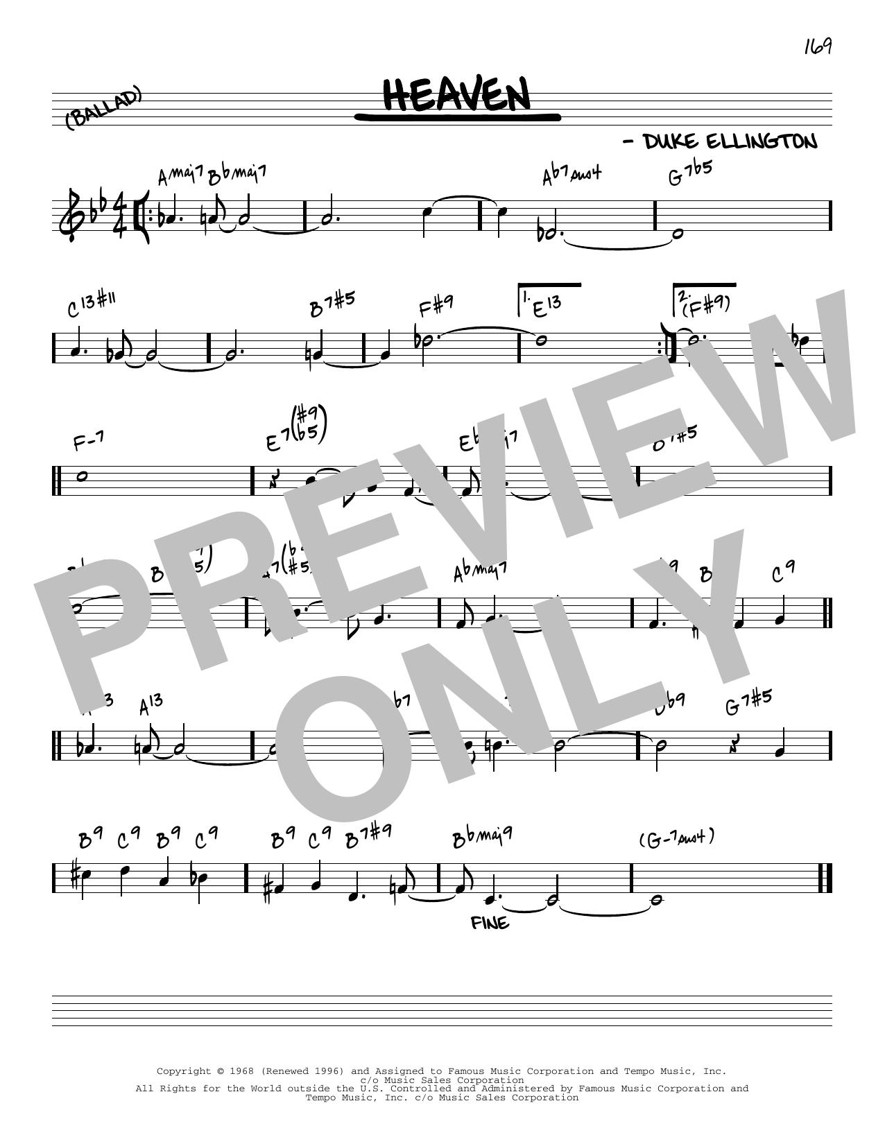 Duke Ellington Heaven [Reharmonized version] (arr. Jack Grassel) sheet music notes printable PDF score