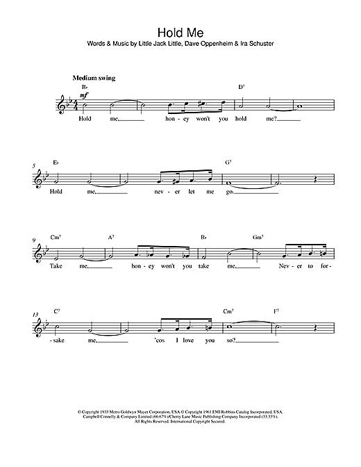 Eddy Arnold Hold Me sheet music notes printable PDF score