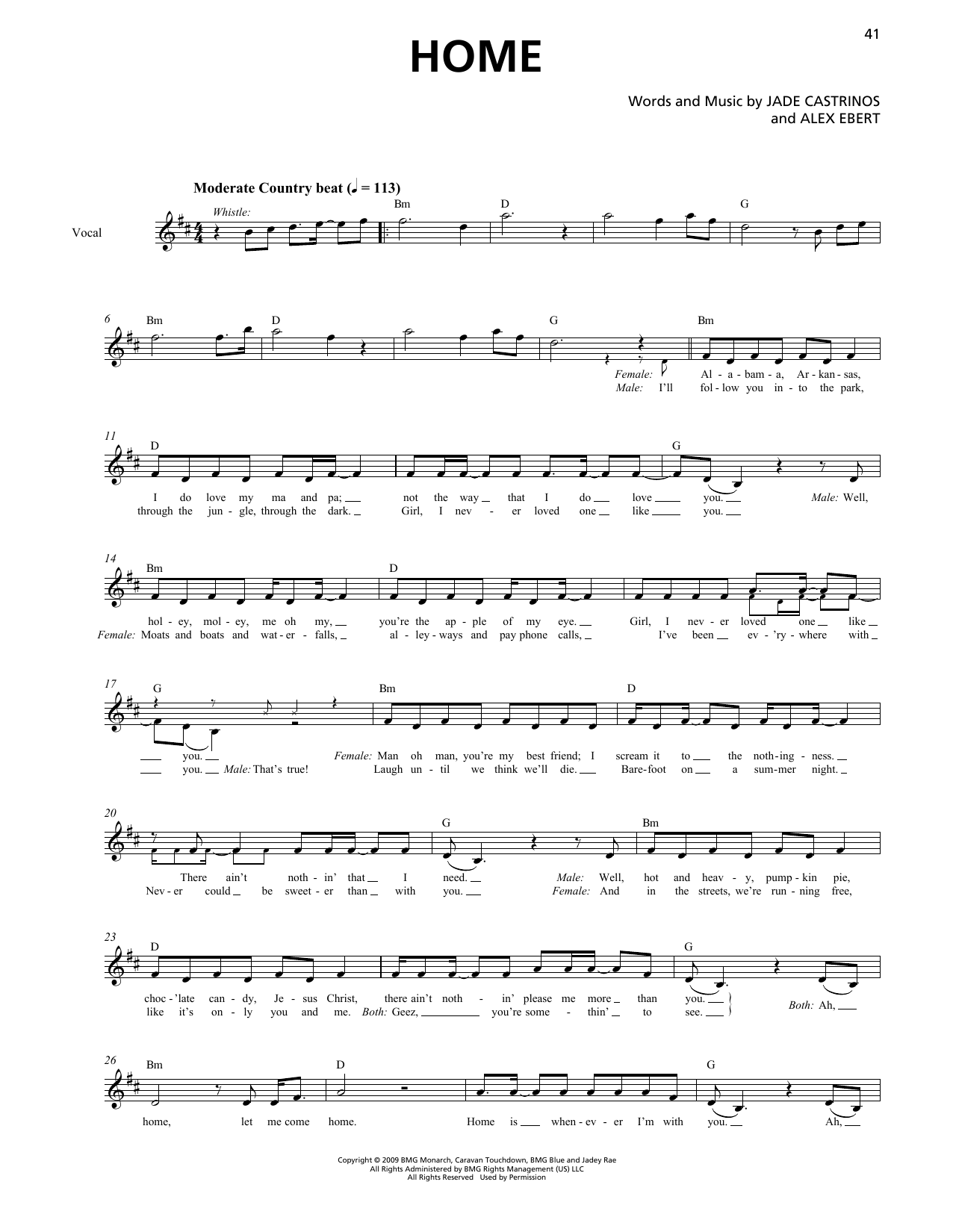 Edward Sharpe & the Magnetic Zeros Home (Horn Section) sheet music notes printable PDF score