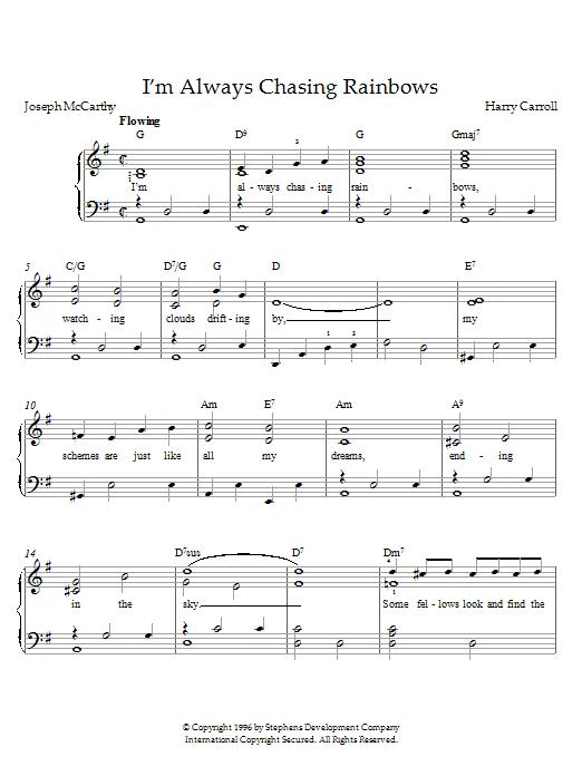 Henry Carroll I'm Always Chasing Rainbows sheet music notes printable PDF score