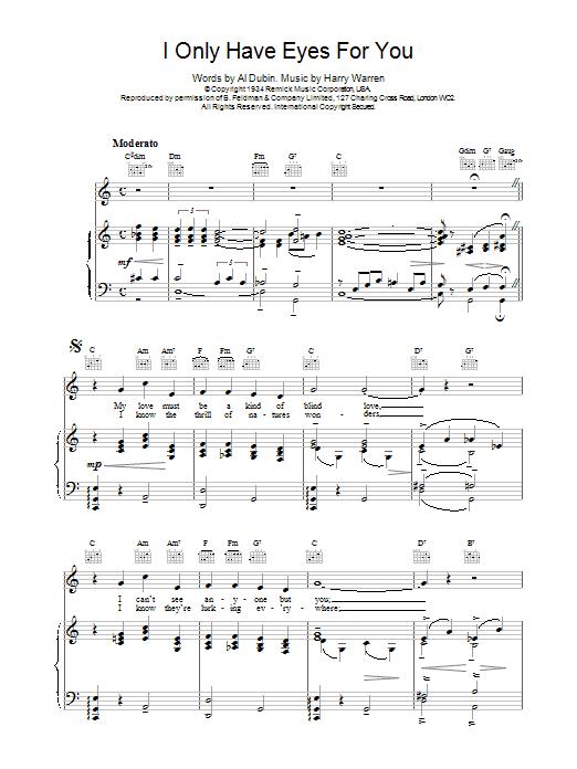 Art Garfunkel I Only Have Eyes For You sheet music notes printable PDF score