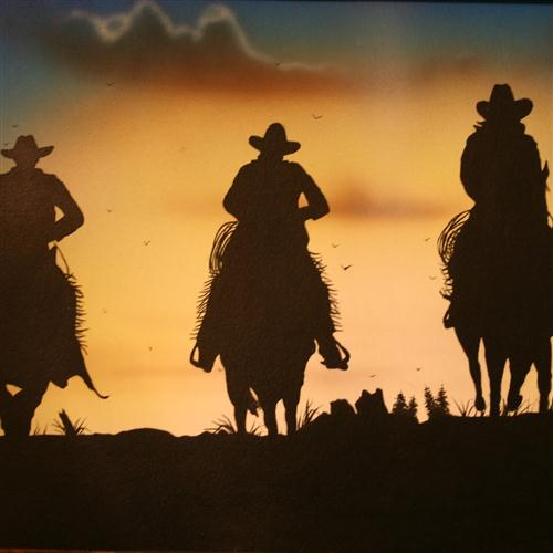 American Cowboy Song image and pictorial