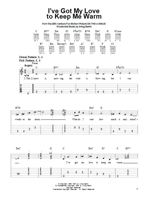 Irving Berlin I've Got My Love To Keep Me Warm sheet music notes printable PDF score