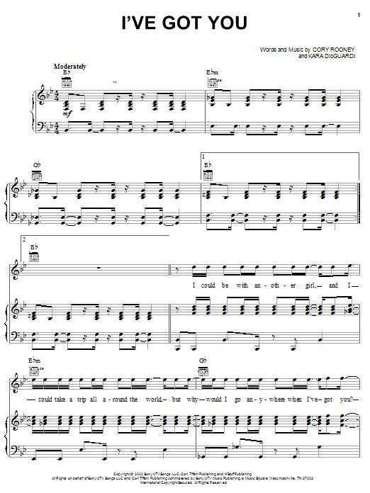 Marc Anthony I've Got You sheet music notes printable PDF score