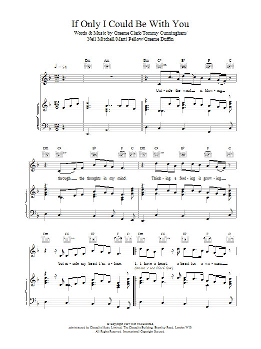 Wet Wet Wet If Only I Could Be With You sheet music notes printable PDF score