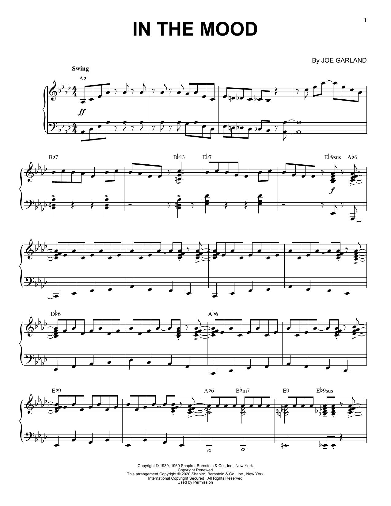 Glenn Miller & His Orchestra In The Mood [Jazz version] (arr. Brent Edstrom) sheet music notes printable PDF score
