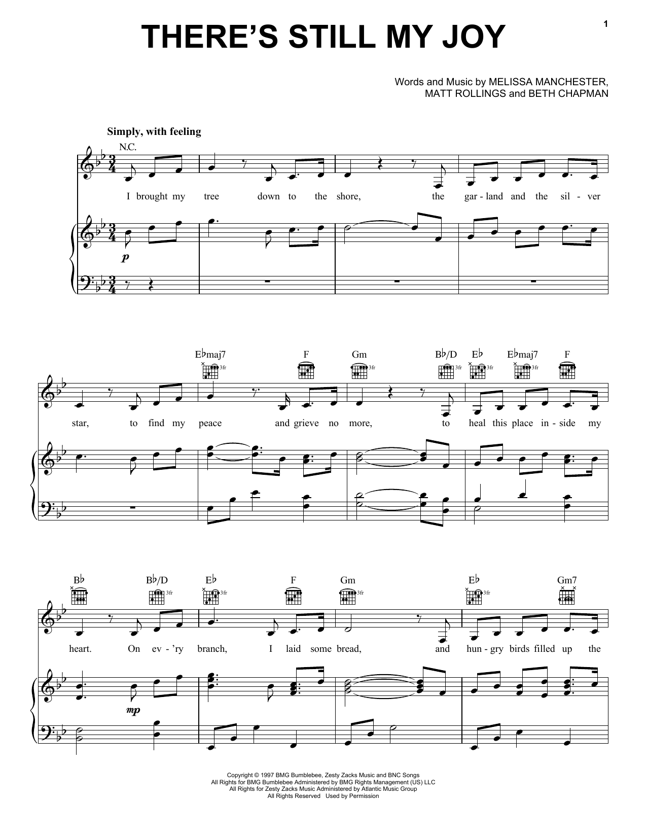 Indigo Girls There's Still My Joy sheet music notes and chords. Download Printable PDF.